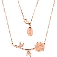 Rose Gold Plated Beauty & The Beast Rose Necklace from Disney Couture - Disney Jewellery Gifts
