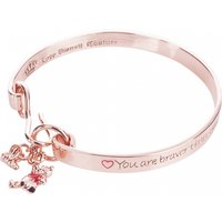 Rose Gold Plated Braver Than You Believe Winnie The Pooh Bangle from Couture Kingdom - Winnie The Pooh Gifts