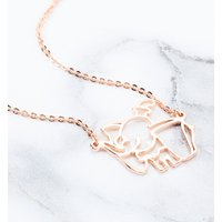 Rose Gold Plated Dumbo Outline Necklace from Disney by Couture Kingdom - Disney Jewellery Gifts