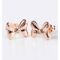 Rose Gold Plated Minnie Mouse Bow Stud Earrings With Crystals from Disney Couture - Disney Jewellery Gifts