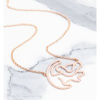 Rose Gold Plated Simba Outline Lion King Necklace - Disney Jewellery Gifts