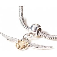Silver Plated Harry Potter Golden Snitch Slider Charm - Harry Potter Gifts