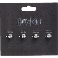 Silver Plated Harry Potter Set of 4 Spell Charm Beads - Harry Potter Gifts