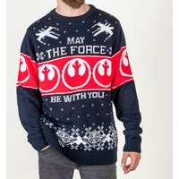 Star Wars May The Force Be With You Knitted Jumper - Christmas Jumper Gifts