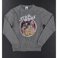 Star Wars Retro Gang Heather Grey Sweater - Sweater Gifts