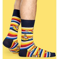 The Beatles All On Board Striped Socks from Happy Socks - The Beatles Gifts