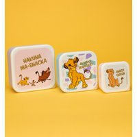 The Lion King Set Of Three Snack Boxes - Lion King Gifts