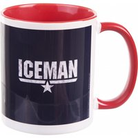 Top Gun Iceman Mug with Red Handle - Gun Gifts