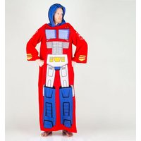 Transformers Optimus Prime Snuggler Blanket With Sleeves - Transformers Gifts