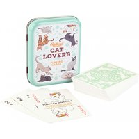 Vintage Cat Lover's Playing Cards in Tin - Playing Cards Gifts