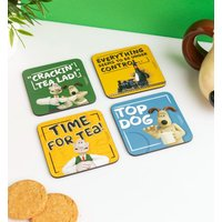 Wallace And Gromit Set Of Four Coasters - Truffleshuffle Gifts