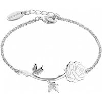 White Gold Plated Beauty & The Beast Rose Bracelet from Disney Couture - Disney Jewellery Gifts