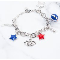 White Gold Plated Dumbo Charm Bracelet from Disney by Couture Kingdom - Disney Jewellery Gifts