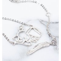 White Gold Plated Dumbo Outline Necklace from Disney by Couture Kingdom - Disney Jewellery Gifts