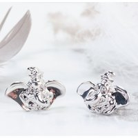 White Gold Plated Dumbo Stud Earrings from Disney by Couture Kingdom - Disney Jewellery Gifts