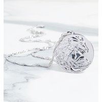 White Gold Plated Frozen 2 Nokk Magic Water Horse Necklace - Horse Gifts