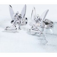 White Gold Plated Tinker Bell Stud Earrings - Disney Jewellery Gifts