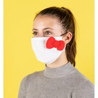 White Hello Kitty Face Mask with 3D Bow from Difuzed