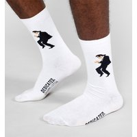 White Pulp Fiction Dance Organic Cotton Socks from Dedicated - Truffleshuffle Gifts
