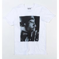 White Tupac Changes Photographic T-Shirt - Tupac Gifts