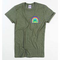 Women's Alien Nostromo Badge Heather Military Green Boyfriend Fit Rolled Sleeve T-Shirt - Military Gifts