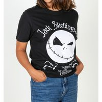 Women's Black Oversized Nightmare Before Christmas Jack Skellington T-Shirt - Nightmare Before Christmas Gifts