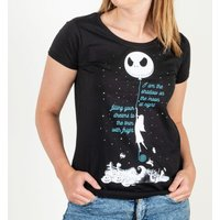 Women's Black Shadow On The Moon Nightmare Before Christmas T-Shirt - Nightmare Before Christmas Gifts