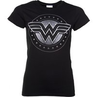 Women's Black Wonder Woman Movie Logo T-Shirt - Wonder Woman Gifts