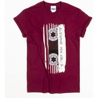 Women's Burgundy Guardians Of The Galaxy Mix Tape Vol 2 Boyfriend T-Shirt - Guardians Of The Galaxy Gifts