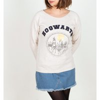 Women's Cream Harry Potter Hogwarts Sweater - Sweater Gifts