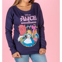 Women's Disney Alice In Wonderland Navy Fitted Sweater - Sweater Gifts
