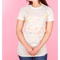 Women's Forever Friends Bears Natural Rolled Sleeve Boyfriend Fit T-Shirt - Bears Gifts