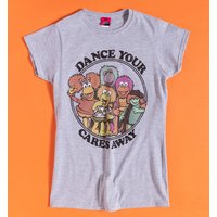 Women's Fraggle Rock Dance Your Cares Away Fitted T-Shirt - Dance Gifts