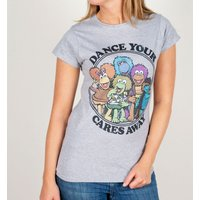 Women's Fraggle Rock Dance Your Cares Away Fitted T-Shirt - Clothes Gifts