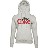 Women's Grey Marl Diet Coke Logo Hoodie - Diet Coke Gifts