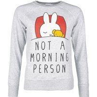 Women's Grey Miffy Not a Morning Person Sweater - Sweater Gifts