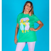 Women's Heather Green The Simpsons Patty and Selma Rolled Sleeve Boyfriend T-Shirt - The Simpsons Gifts