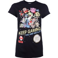 Women's Keep Gaming Boyfriend Fit T-Shirt With Rolled Sleeves - Boyfriend Gifts