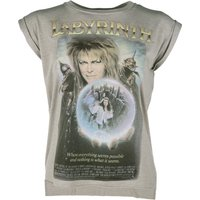 Women's Labyrinth Movie Poster Flowy T-Shirt With Rolled Cuffs - Movie Gifts