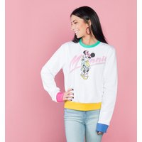 Women's Minnie Mouse Electric Cropped Sweater from Cakeworthy - Sweater Gifts