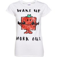 Women's Mr Strong Wake Up Work Out Mr Men T-Shirt - Men Gifts