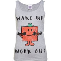Women's Mr Strong Wake Up Work Out Mr Men Vest - Men Gifts