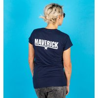 Women's Navy Top Gun Maverick Fitted T-Shirt - Clothes Gifts