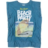 Women's Point Horror Beach Party Heather Teal Flowy T-Shirt - Beach Gifts