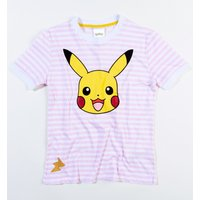 Women's Pokemon Pikachu Striped T-Shirt from Difuzed - Pokemon Gifts