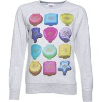 Women's Polly Pocket Playsets Grey Sweater - Polly Pocket Gifts