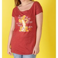 Women's Red Marl Winnie The Pooh Tigger Quote Oversized T-Shirt - Tigger Gifts
