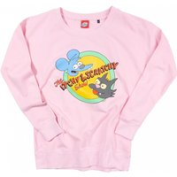 Women's The Simpsons Itchy and Scratchy Baby Pink Sweater - Sweater Gifts
