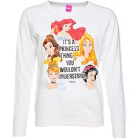 Women's White Disney It's A Princess Thing Sweater - Sweater Gifts