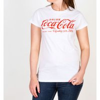 Women's White Drink Coca-Cola Logo Fitted T-Shirt - Drink Gifts